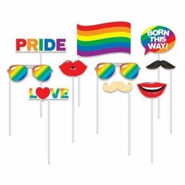 Carnavalskleding x foto props regenboog/gay pride thema arnhem