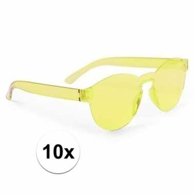 Carnavalskleding x gele verkleed zonnebril volwassenen arnhem