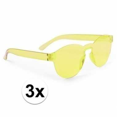 Carnavalskleding x gele verkleed zonnebrillen volwassenen arnhem
