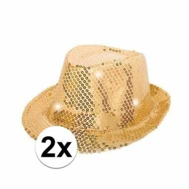Carnavalskleding x gouden pailletten hoedjes led licht arnhem