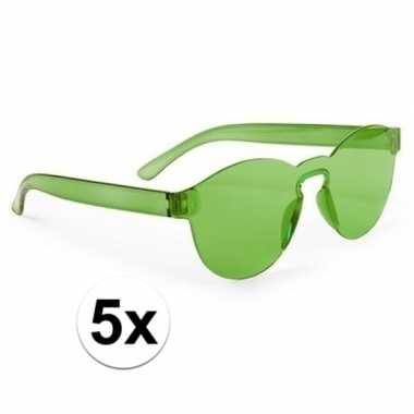 Carnavalskleding x groene verkleed zonnebrillen volwassenen arnhem