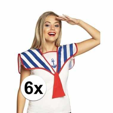 Carnavalskleding x matrozen verkleed kraag gestreept arnhem