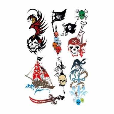 Carnavalskleding x piraten thema plak tattoo stickers arnhem