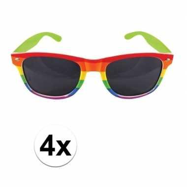 Carnavalskleding x regenboog feest brillen volwassenen arnhem