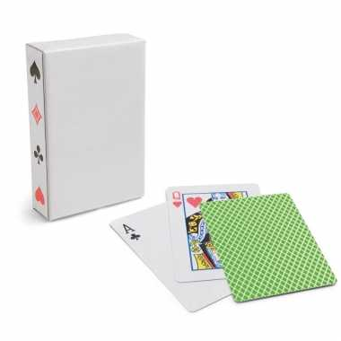 Carnavalskleding x setje speelkaarten groen arnhem