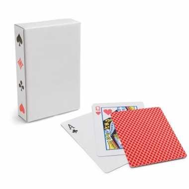 Carnavalskleding x setje speelkaarten rood arnhem