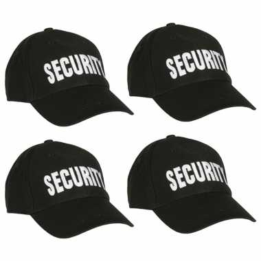 Carnavalskleding x stuks security thema baseballcap arnhem