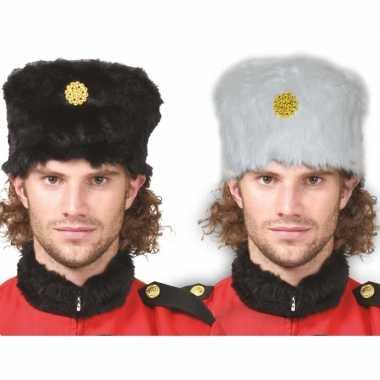Carnavalskleding x stuks zwarte kozakken verkleed bontmuts volwassenen arnhem