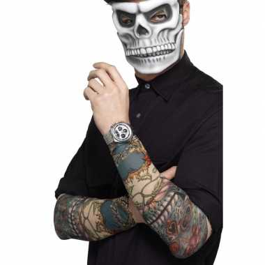 Carnavalskleding x tattoo sleeves day of the dead volwassenen arnhem