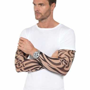 Carnavalskleding x tattoo sleeves tribal volwassenen arnhem