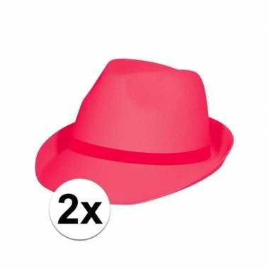 Carnavalskleding x toppers roze/pink party hoedjes arnhem