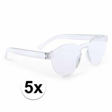 Carnavalskleding x transparante verkleed zonnebrillen volwassenen arn