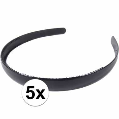 Carnavalskleding x zwarte dames diadeem/haarband , breed arnhem