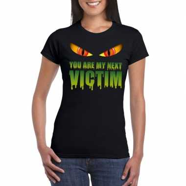 Carnavalskleding you are my next victim halloween monster t shirt zwa