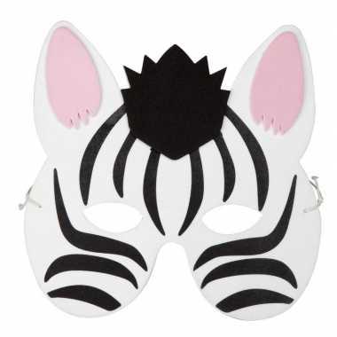 Carnavalskleding zebra foam masker kinderen arnhem