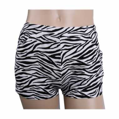 Carnavalskleding zebra print hotpants dames arnhem