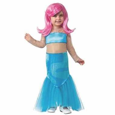 Carnavalskleding zeemeermin jurk pruik meisjes arnhem