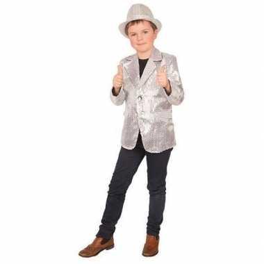 Carnavalskleding zilver glitter verkleed jasje kinderen arnhem