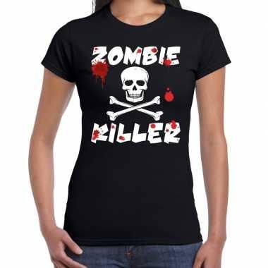 Carnavalskleding zombie killer halloween t shirt zwart dames arnhem