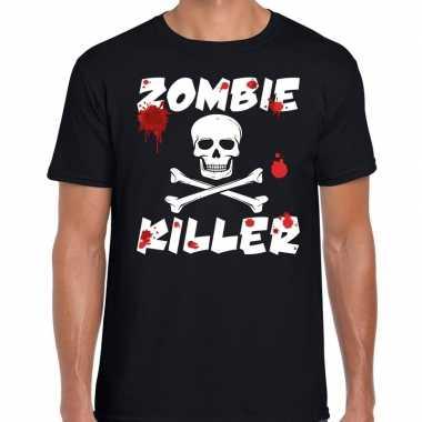 Carnavalskleding zombie killer halloween t shirt zwart heren arnhem