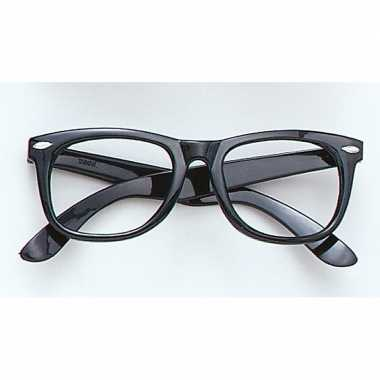 Carnavalskleding zwarte bril zonder glazen arnhem