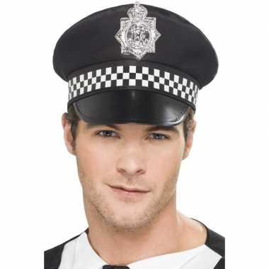 Carnavalskleding zwarte britse politiepet heren arnhem