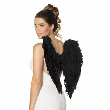 Carnavalskleding zwarte engelen vleugels arnhem