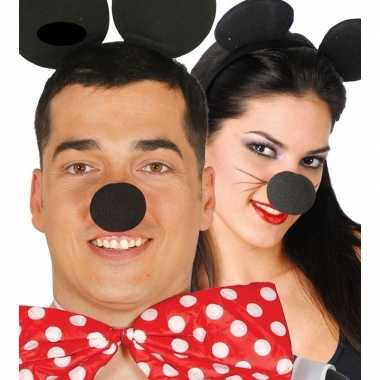 Carnavalskleding zwarte foam neus arnhem
