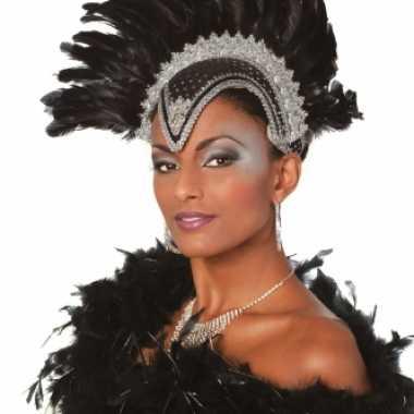 Carnavalskleding zwarte hoofdtooi dames arnhem