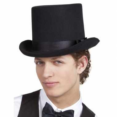 Carnavalskleding zwarte luxe hoge hoed heren arnhem