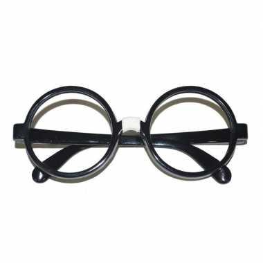Carnavalskleding zwarte nerd bril volwassenen arnhem