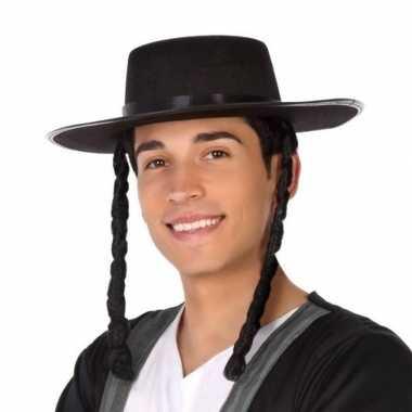 Carnavalskleding zwarte orthodoxe jood verkleed hoed heren arnhem