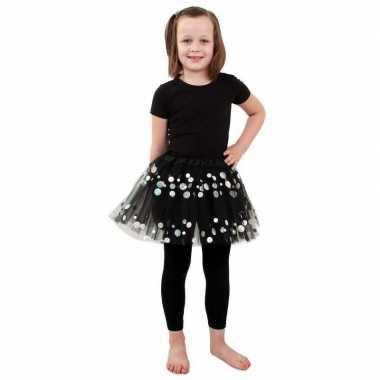 Carnavalskleding zwarte petticoat stippen meisjes arnhem