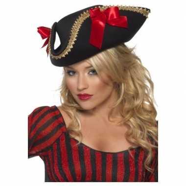 Carnavalskleding zwarte piraten driesteek verkleed hoed volwassenen a