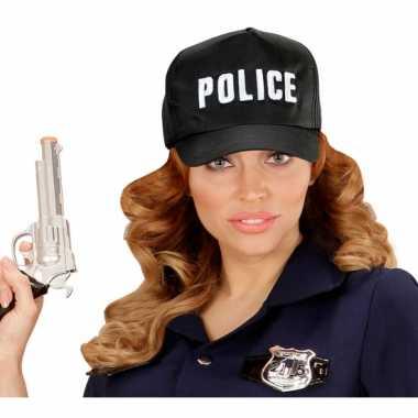 Carnavalskleding zwarte politie pet volwassenen arnhem