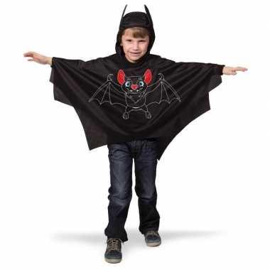 Carnavalskleding zwarte vleermuis verkleed cape kinderen arnhem