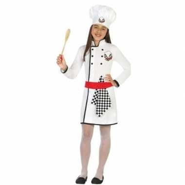 Chef kok verkleed carnavalskleding/jurk meisjes arnhem
