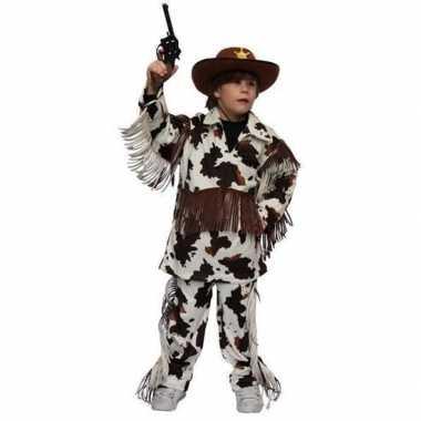 Cowboy carnavalskleding koeienprint kinderen arnhem