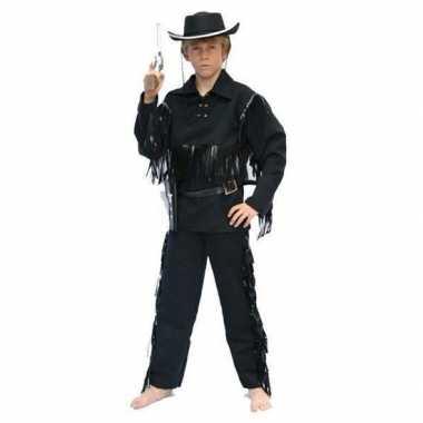 Cowboy carnavalskleding zwart kinderen arnhem