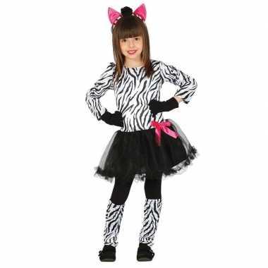 Dierencarnavalskleding zebra verkleedjurkje meisjes arnhem