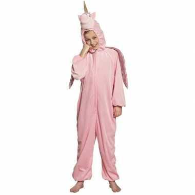 Eenhoorn dieren onesie/carnavalskleding kinderen roze arnhem