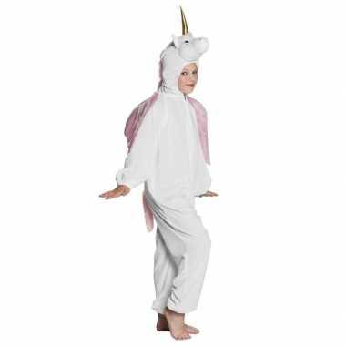 Eenhoorn dieren onesie/carnavalskleding kinderen wit arnhem