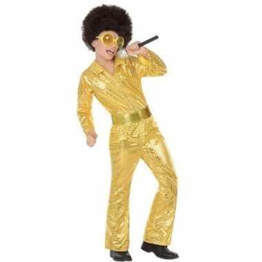 Gouden glitter disco carnavalskleding jongens arnhem
