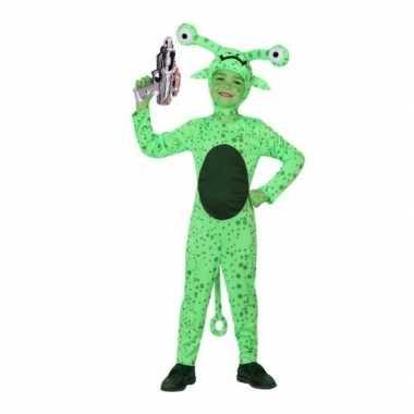 Groen alien carnavalskleding inclusief space gun kids arnhem