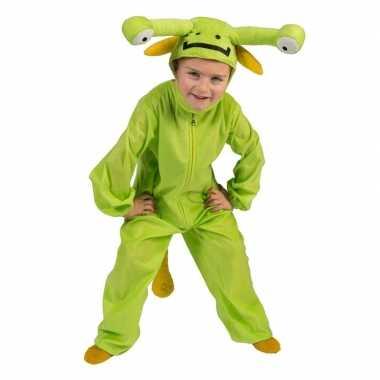 Groen marsmannetje verkleed carnavalskleding peuters arnhem