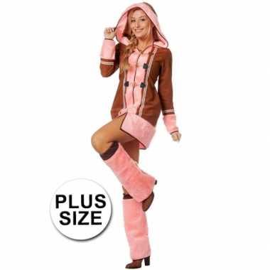 Roze Carnavalskleding Dames.Grote Maten Roze Eskimo Carnavalskleding Dames Arnhem