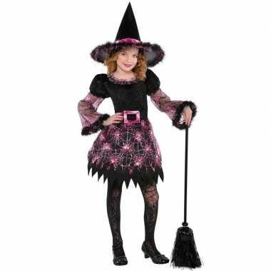 Halloween heksen carnavalskleding spinnenweb meisjes arnhem