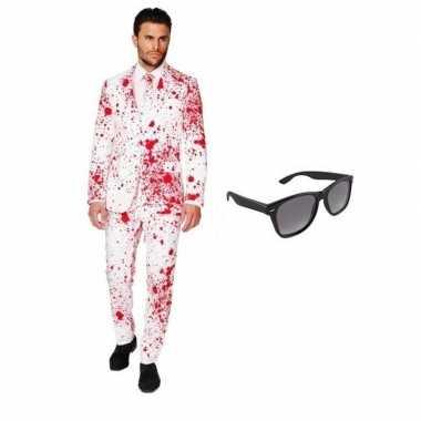 Heren carnavalskleding bloed print maat (l) gratis zonnebri arnhem
