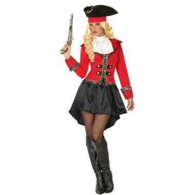 Kapitein piraat grace verkleed carnavalskleding/carnavalskleding dam