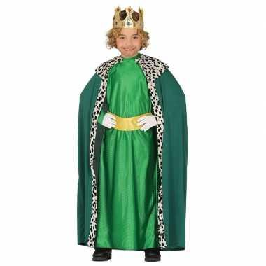 Koning mantel groen verkleedcarnavalskleding kinderen arnhem
